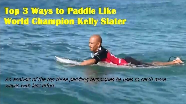 Kelly Slater paddling