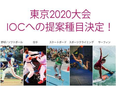 東京オリンピック 追加種目