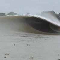 インド コルカタ ガンジス川 潮津波