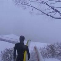 真冬 サーフィン