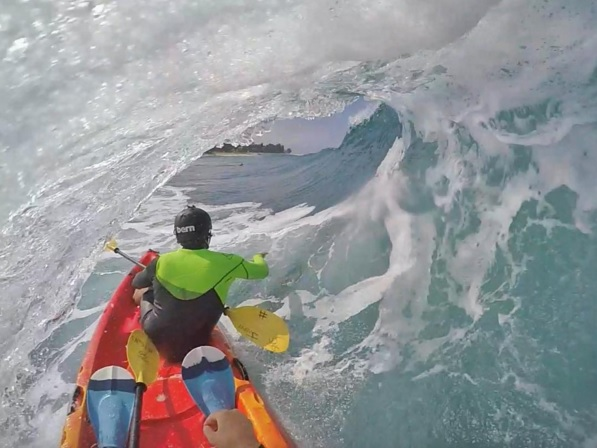 Kayak in a barrel