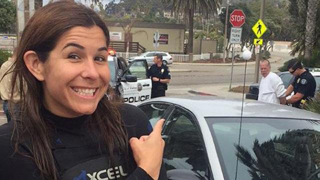 車上荒しを逮捕したジョリー photo:Westmont College/Facebook