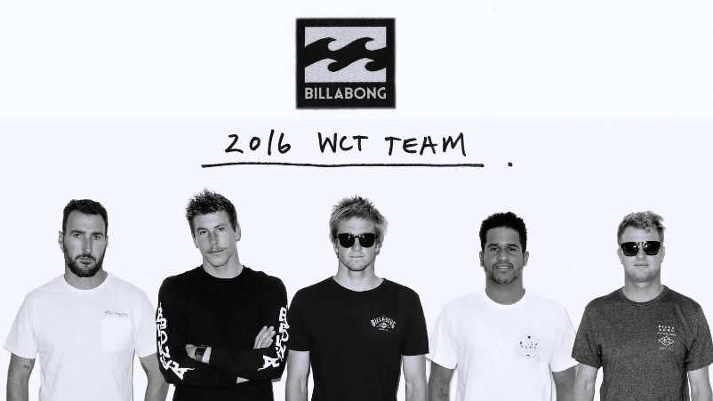 Billabong 2016 WCT Team