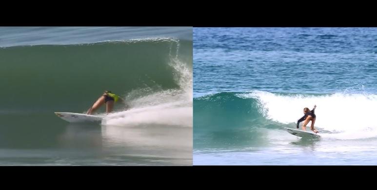 カリッサ・ムーアと一般サーファーの映像比較から見えるボトムターンのコツ
