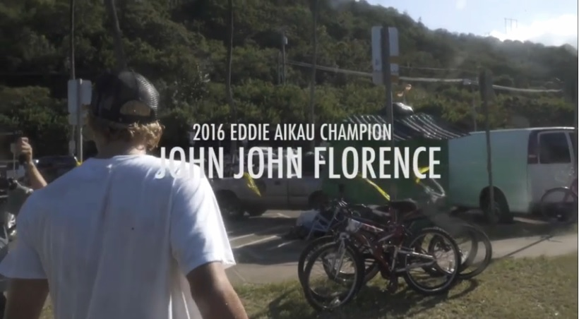 John John winner of Eddie 2015-2016
