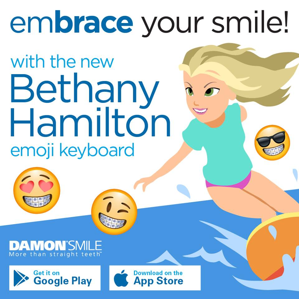Bethany Hamilton Emojis keyboard