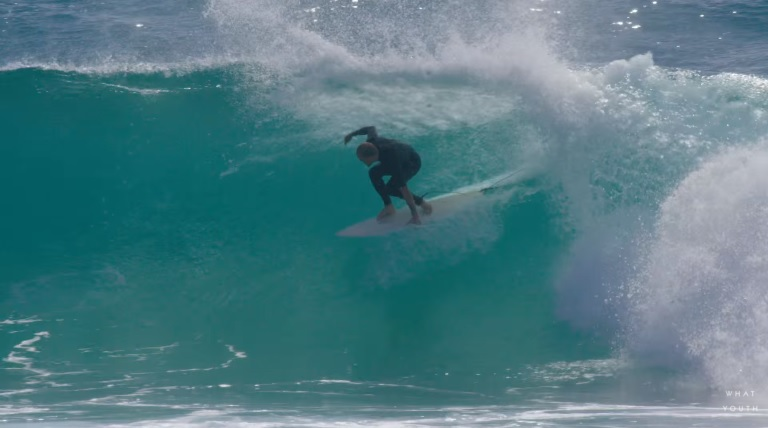 Chippa Wilson preparing for a barrel