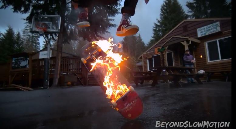 Fire Skateboarding
