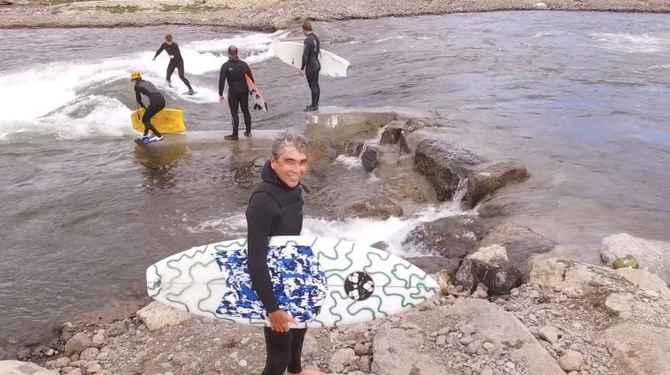 Gerry Lopez River Surfing