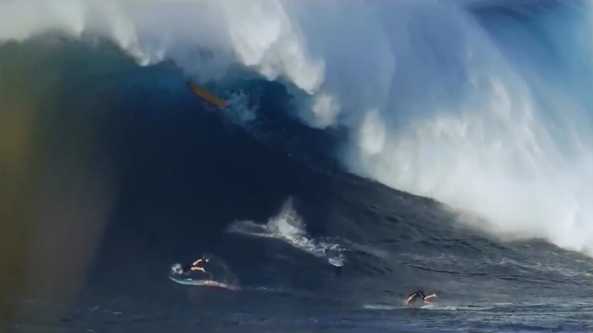 cleanup sets in big wave surfing