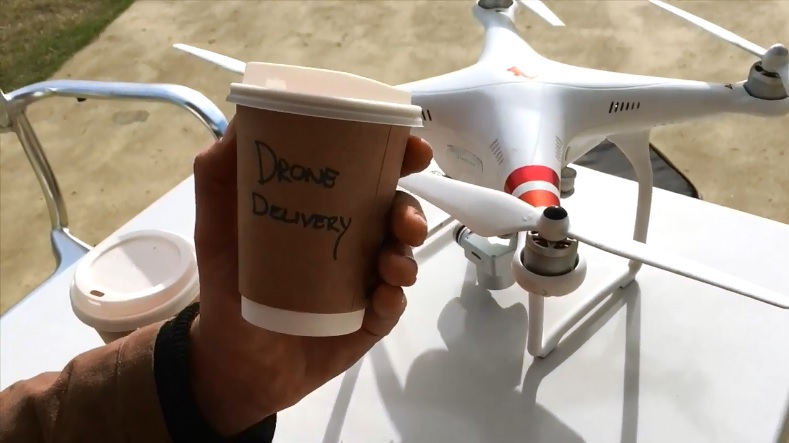 Drone Cafe Delivery