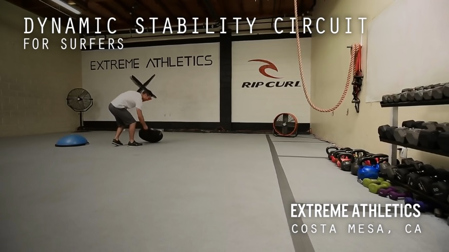 Dynamic Stability Workout for Surfers
