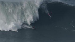 ナザレ(ポルトガル)の16/17年シーズン!ビッグウェイブサーフィンのハイライト動画