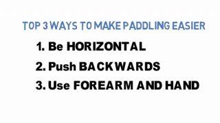 パドリング改善の3つのポイント!少ない労力で最大限まで効率化する方法