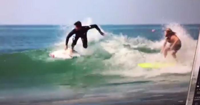 フリーサーフィン中のガブリエル・メディナによるドロップイン問題再び