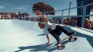 カーバースケートボードによるサーフライクなスケートコンテスト動画@ベンチュラ