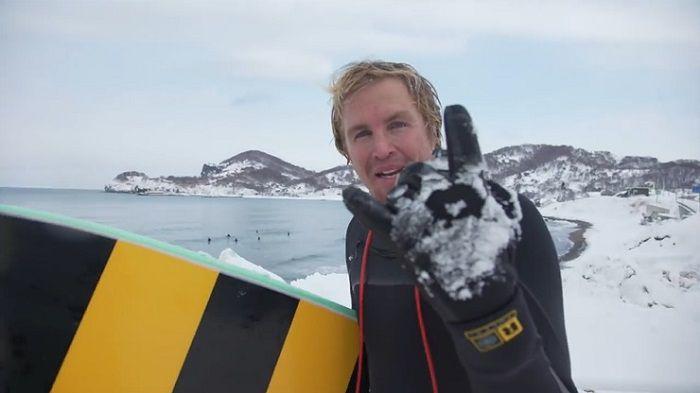 ジェイミー・オブライエンの北海道トリップ続編!日本海でサーフィンにトライ