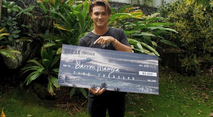 17/18年シーズンのWOTW若手部門の勝者はハワイアンのバロン・マミヤ