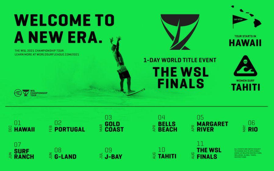 2020年ワールドツアーはキャンセル:2021年シーズンのWSLイベントの大枠発表