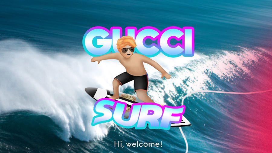 レオナルド・フィオラヴァンティが大使を務めるGucciがサーフィンゲームを公開